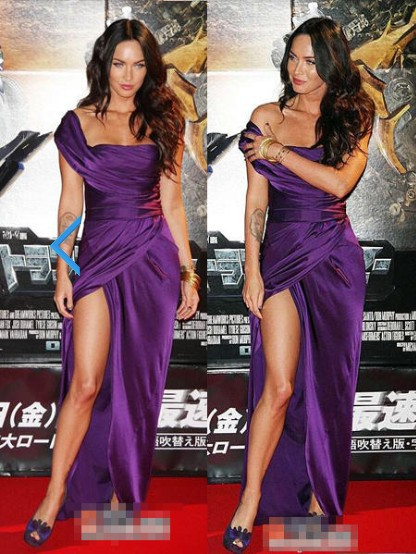free shipping new fashion 2014 kim kardashian hot&sexy one shoulder purple long casual brief dress party prom Celebrity Dresses