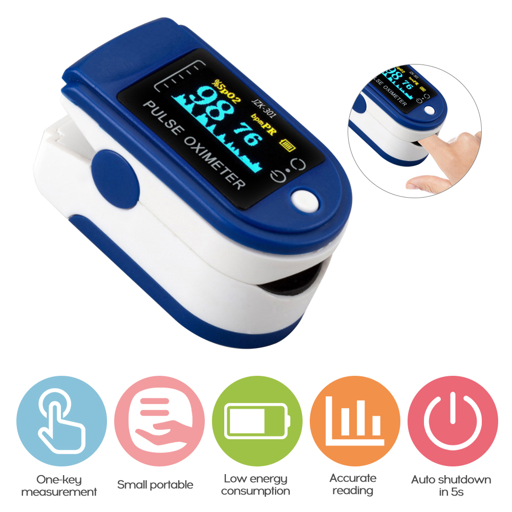 Blood Oxygen Monitor Finger Pulse Oximeter Oxygen Saturation Monitor Home Health Care Fast Shipping (no Battery)