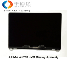 Original NEW A1706 LCDs Grey Silver Color A1708 Lcd Display Screen Assembly for Macbook Pro Retina 13.3""