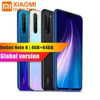 Versão global xiaomi nota 8 4 gb ram 64 gb rom telefone móvel note8 snapdragon 665 carregamento rápido 4000 mah bateria 48mp smartphone