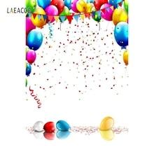 купить Laeacco Balloons Sequins Birthday Party Celebration Baby Photography Backgrounds Custom Photographic Backdrops For Photo Studio дешево