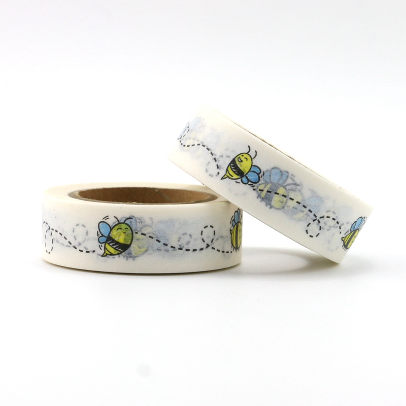10M Cute Decorative Bees Print Washi Tape Animal DIY Scrapbooking Sticker Label Japanese Masking Tape School Office Supply