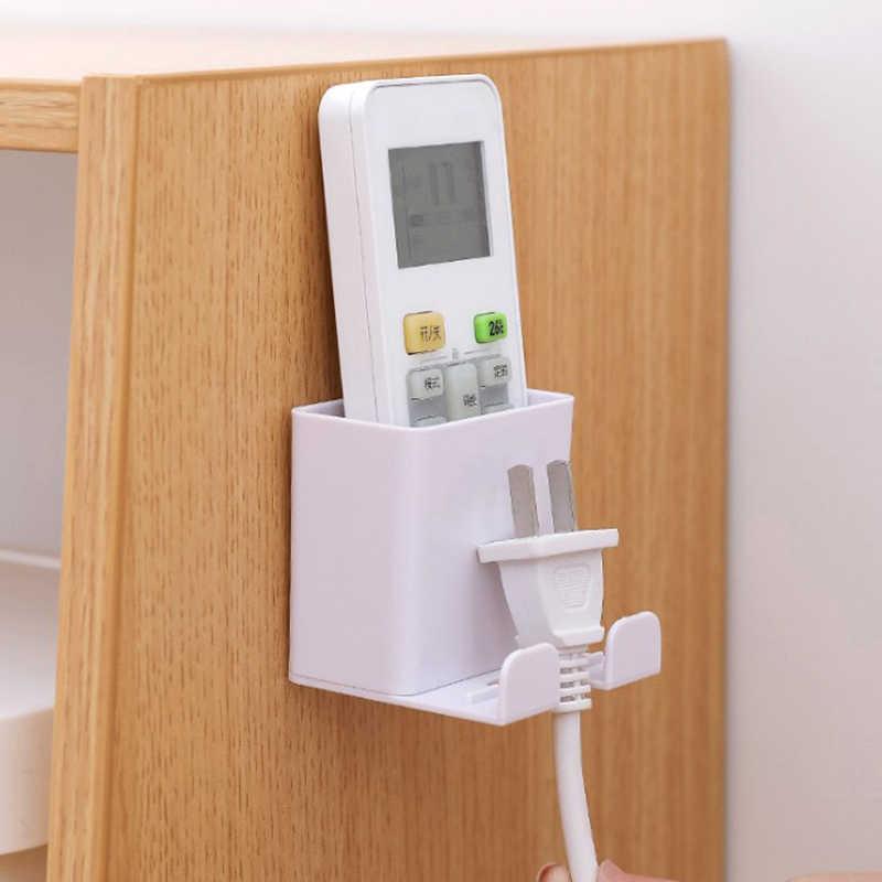 1 Uds. Soporte de pared para teléfono inteligente elemento de almacenamiento para colgar en pared estante montado para teléfono móvil soporte de pared soporte de carga Control remoto nuevo