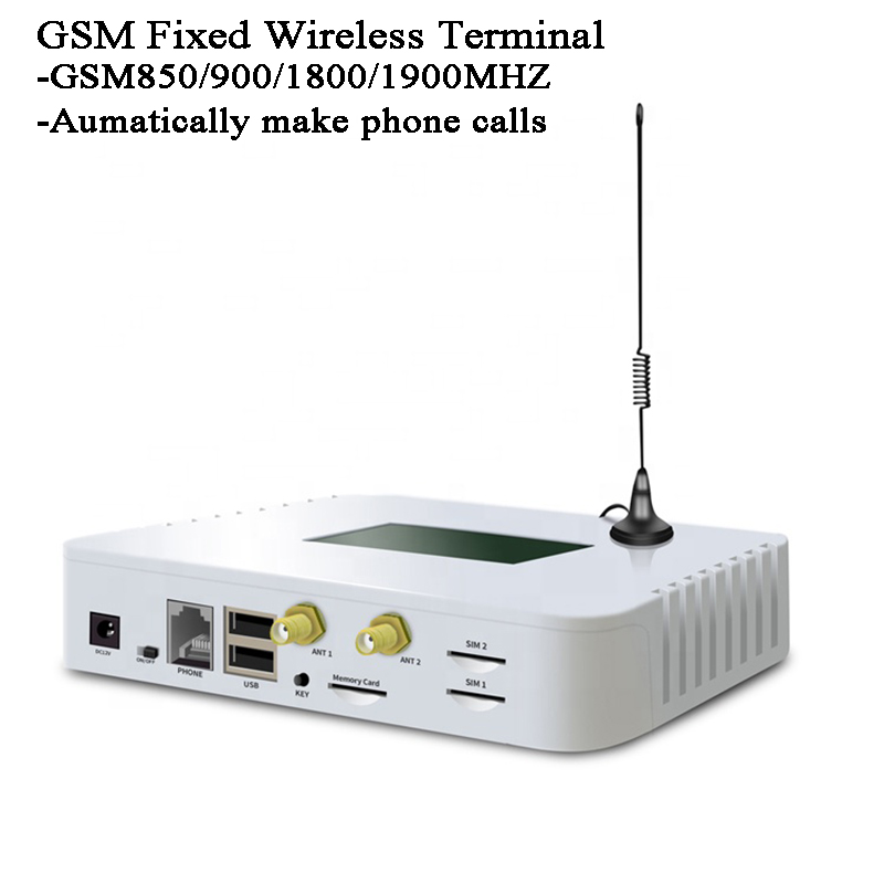 GSM Fixed Wireless Terminal Automatic Call Phone IVR Recording Telemarketing Advertising Landline Phone LCD Display GSM Module