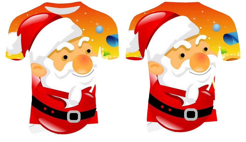 Модные футболки с рождественским узором, мужские Забавные футболки с принтом Санта-Клауса, повседневные 3d футболки, вечерние футболки со снеговиком, одежда с коротким рукавом