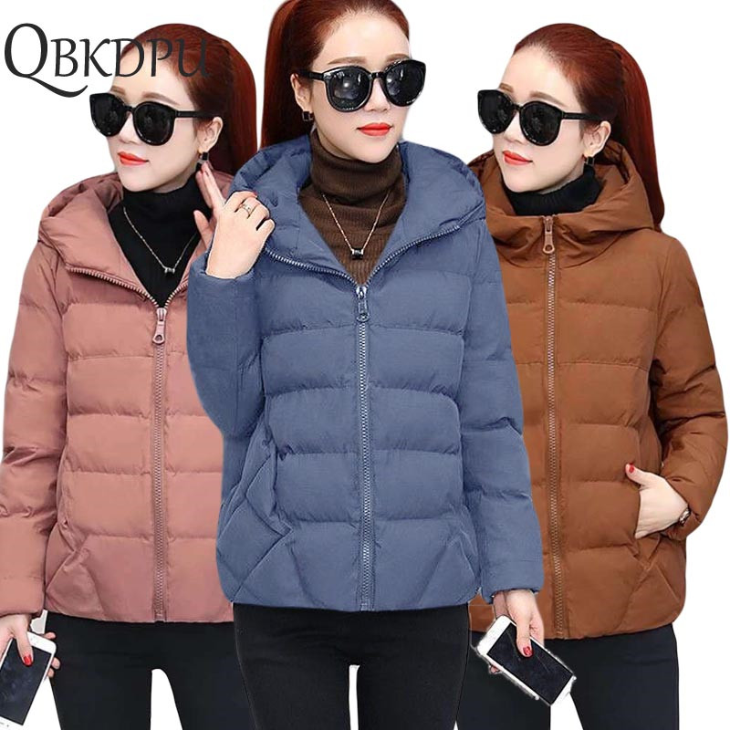 Plus Size 5XL Winter   Parkas   Casual Jacket for women 2019 Winter NEW Short Female Loose Cotton padded basic tops Outerwear