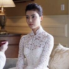 Lace Long Sleeve Wedding Bolero Scoop Bridal Wraps for Wedding Party Prom Cheap Ivory Bride Jacket Bolero Shrug Custom