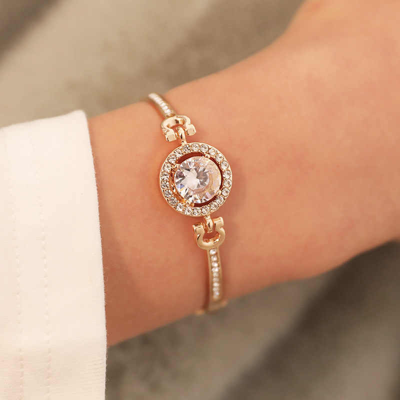 1 個の気質のファッションフラッシュダイヤモンドのブレスレットパーティーの好意ブレスレットバレンタインデープレゼントゲストパーティーの好意のお土産