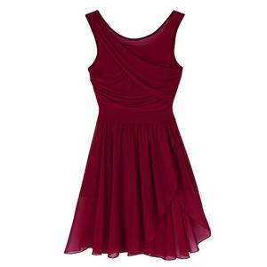 Image 4 - Балетные гимнастические леотарды для взрослых и женщин, платье пачка для танцев, женские балерины, современные лирические танцевальные юбки, одежда из шифона
