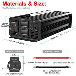 Image 5 - 2000W Pure Sine Waveอินเวอร์เตอร์พลังงานแสงอาทิตย์DC 12V 24V 48V To AC 110V 220Vดิจิตอล