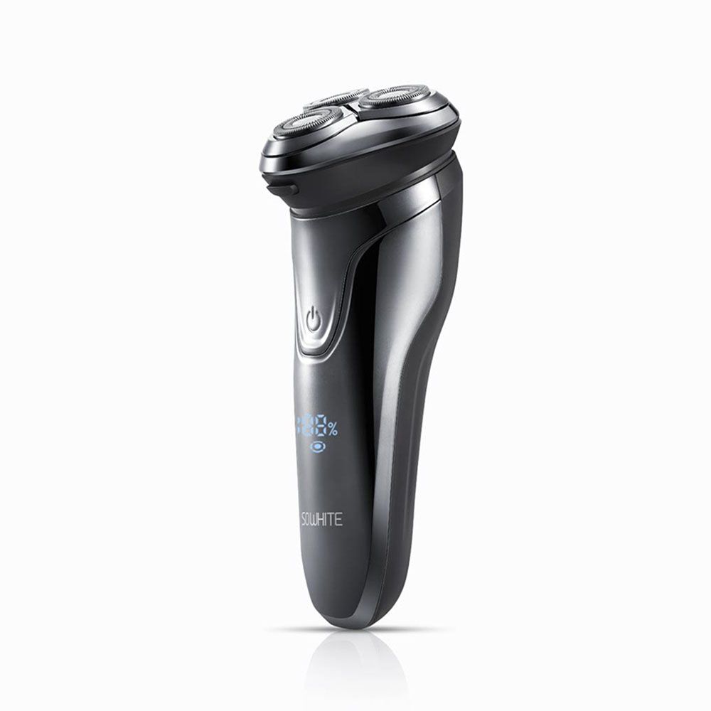 XIAOMI Youpin SO WHITE ES3 Electric Razor Shaver Wireless 3D Smart Floating IPX7 Waterproof USB Shaving Machine Men Beard Remove image