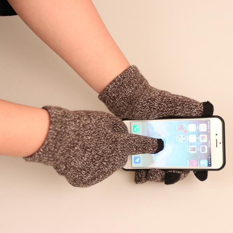 1 Pair Unisex Winter Warm Bike Cycling Knit Gloves Hand Warmer For Touches Screen Smart Phone New