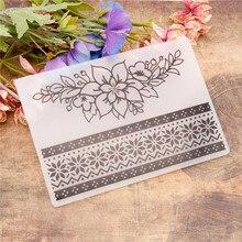 Embossing-Folder-Stencils Painting-Tool Crafts Scrapbooking Flowers Plastic Template
