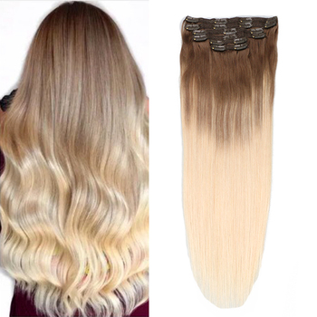 Toysww Remy Hair Clip In Human Hair Extensions Ombre Balayge Clip in Straight Hair Extensions 100g 120g sindra indian straight remy hair clip in human hair extensions blonde color 60 full sets 6pcs set 100g 120g