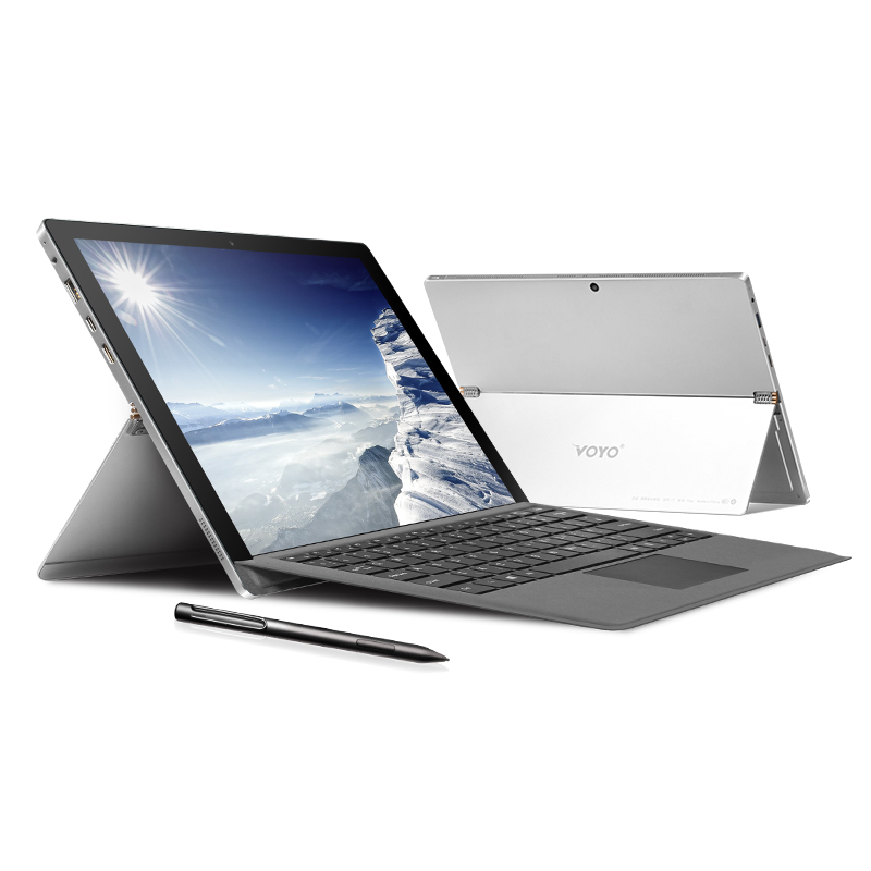 VOYO I7plus 7th Gen I7 7500U VOYO 2in1 Tablet PC Notebook 16GB RAM 512G SSD IPS Touchscreen License Win10 With Keyboard And Pen