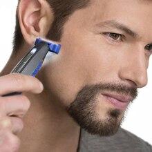 Мини-Мужская электрическая бритва для лица, триммер для бороды, USB перезаряжаемая машина для бритья с низким уровнем шума, моющаяся бритва
