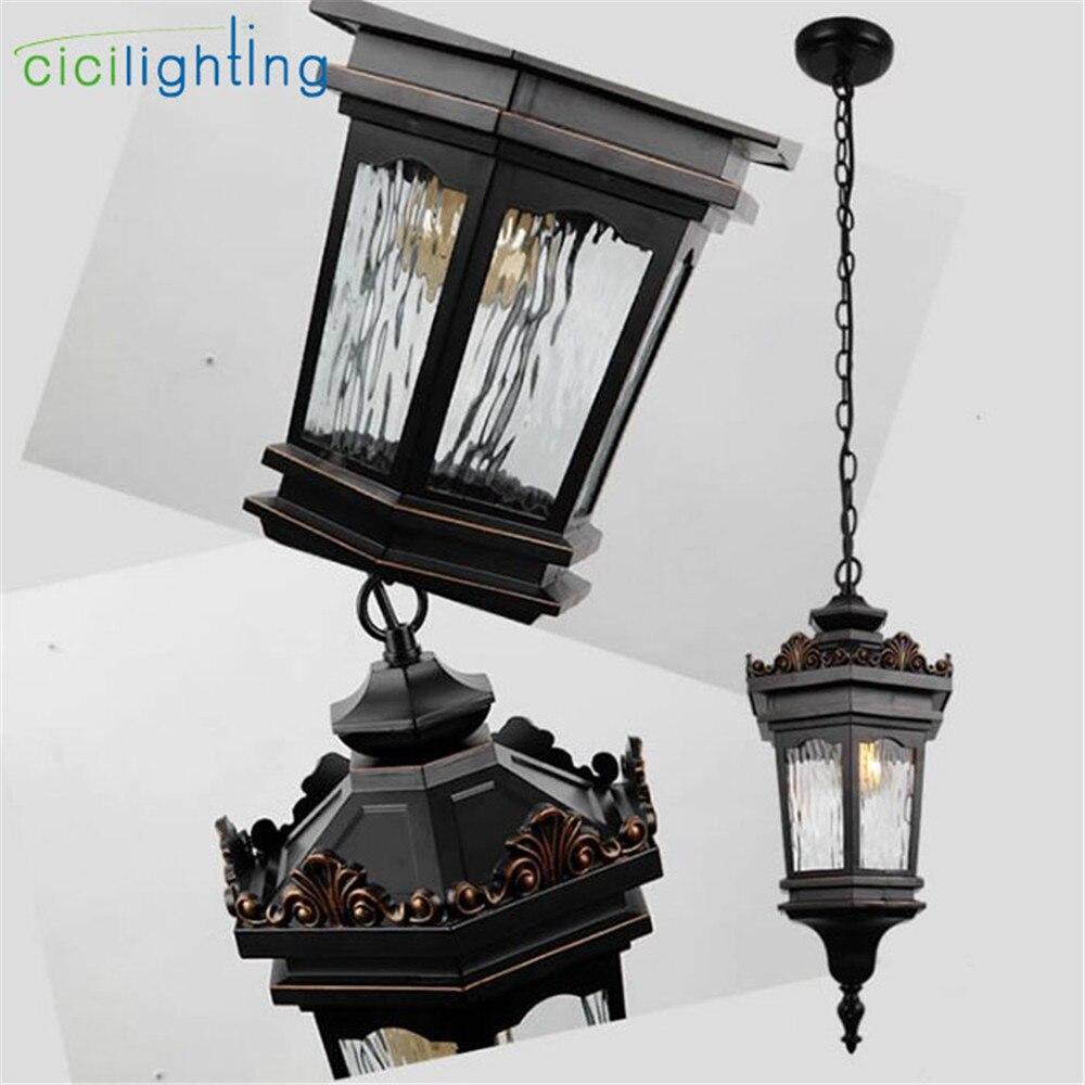 pendurado lanterna bronze vidro decadente umido avaliado para varanda patio exterior 03