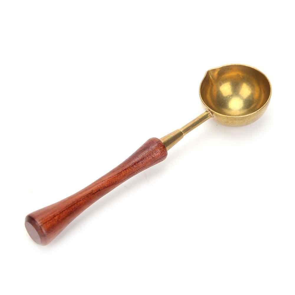 Kayu Lilin Seal Stamp Retro Api Hangat Copper Lebur Waxing Sendok Cap Alat Ringan Mudah Digunakan dan Praktis