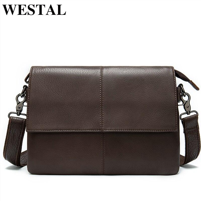 WESTAL Men's Genuine Leather Crossbogy Bag Messenger Bag Men's Shoulder Bag For Men's Bags Casual Men's Satchel Leather Handbags