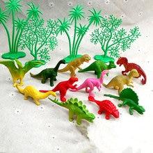 Decoração de bolo de dinossauro, enfeites de decoração criativa para bolo, aniversário e casa, 16/pçs/set
