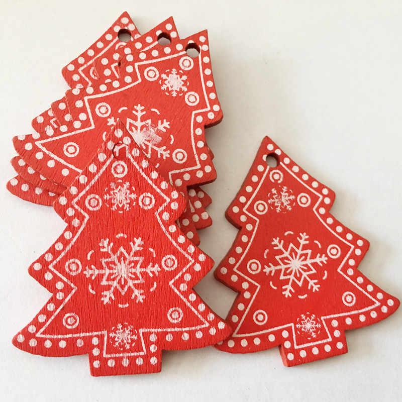 Kerajinan Kreatif Kayu Hadiah Natal Dekorasi Interior Rumah DIY Aksesoris Dekorasi Natal