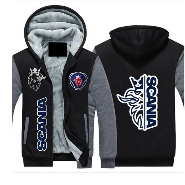 2021SCANIA Winter Hoodies Men Seat Logo Jacket Thicken Warm Fleece cotton Zipper Raglan Coat Male Tracksuits 4