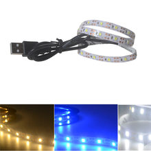 5V 2835 30SMD/50 Cm Putih Hangat Putih/Biru LED Lampu Strip Bar TV Kembali Pencahayaan non Tahan Air Strip LED(China)