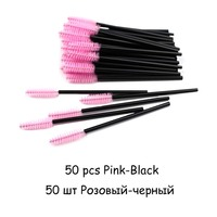 50pcs Pink Black