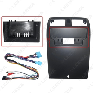 "Image 3 - Leewa Auto Audio 2DIN Fascia Frame Adapter Met Power Harnas Voor Honda Accord 7th Gen. 9 ""Big Screen Dash Montage Panel Frame"