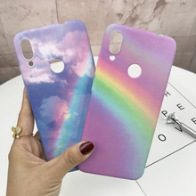 Luxury Gradient Marble Phone Case for Redmi Note 7 Colorful Hard PC Cover Pro MI8 MI9 MI Play