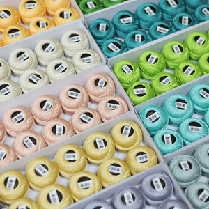 DMC новая 35 цветная жемчужная хлопчатобумажная нить для вязания крючком Размер 8 двойная мерсеризованная длинная Штапельная ткань из египет...