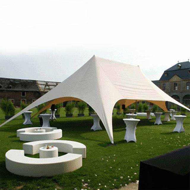 16m x 21m Double Peak Star Shape Big PVC Polyester Tents Outdoor Trade Show Event Celebration Reception Party Fair Wedding Tent