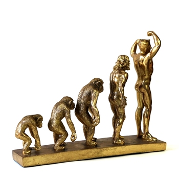 Human Evolution Sculpture Resin Anthropoid Statue Troglodyte Remote Times Museum Darwin History Ornament Decor Craft Accessories 6