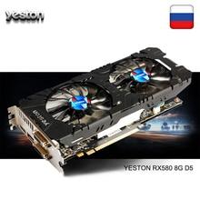 Yeston Radeon RX 580 GPU 8GB GDDR5 256bit Gaming Desktop com
