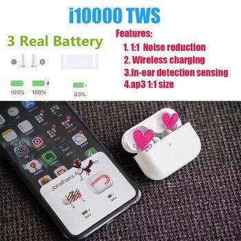 Original i10000 TWS Copy Air 3 pop-up window wireless Bluetooth headset wireless charging pk w1 h1 1536u chip i200 i500 i1000tws