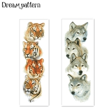 Cross-Stitch-Kit Thread Fabric Tiger-Pack 18ct Embroidery Diy Animal-Wolf Handmade Needlework