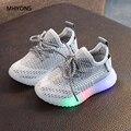 Детские кроссовки с подсветкой MHYONS  светящиеся кроссовки для мальчиков и девочек  модная спортивная обувь с подсветкой  нескользящая обувь ...