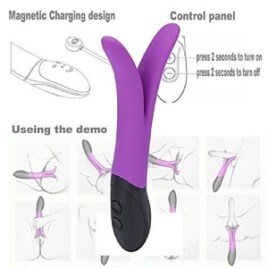 Y type Rabbit Vibrator G Spot Massager Multispeed Sex Toy Silicone Dual Motors Vibrators For Women Sex Products For Couples