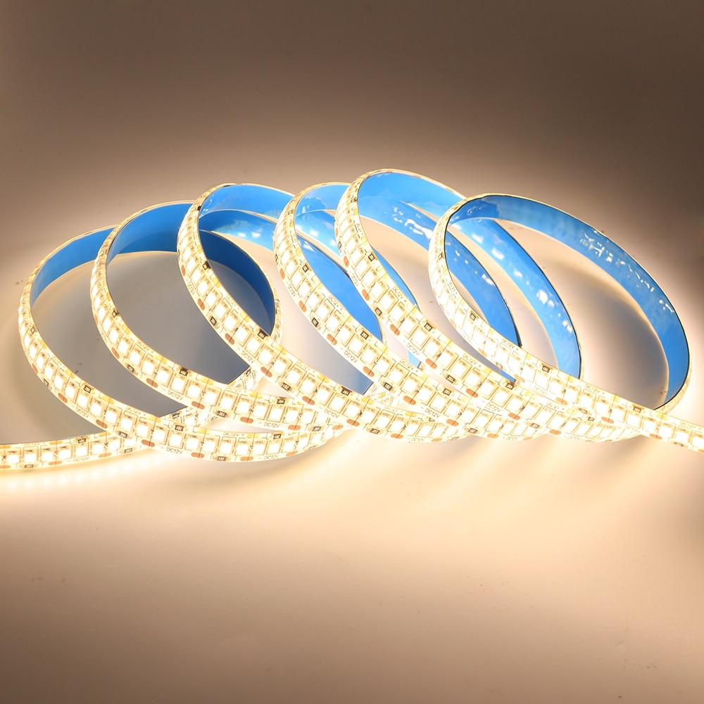 H7da208f7d5f348e4814b0e40adf60d96H LED Strip 2835 SMD 240LEDs/m 5M 300/600/1200 Leds DC12V High Bright Flexible LED Rope Ribbon Tape Light Warm White / Cold White