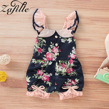 ZAFILLE Summer Cotton Baby Romper 2020 Flare Sleeve Baby Girl Clothes Floral Printed Newborn Infant Kids Clothes Baby Jumpsuits zafille long sleeve baby romper printed baby boy clothes cotton newborn infant baby girl clothing kids clothes baby jumpsuits