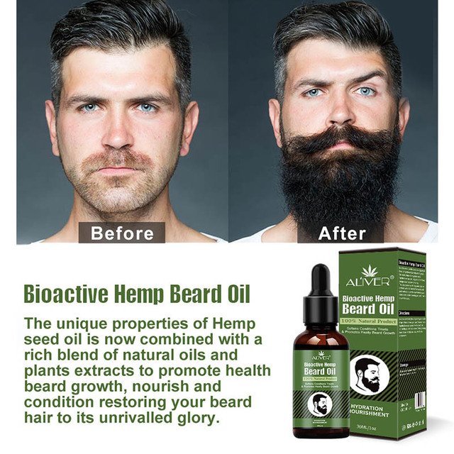 Hemp Oil Beard Growth Men's Beard Hair Growth Products Hair Conditioner Leave-In JIU55 5