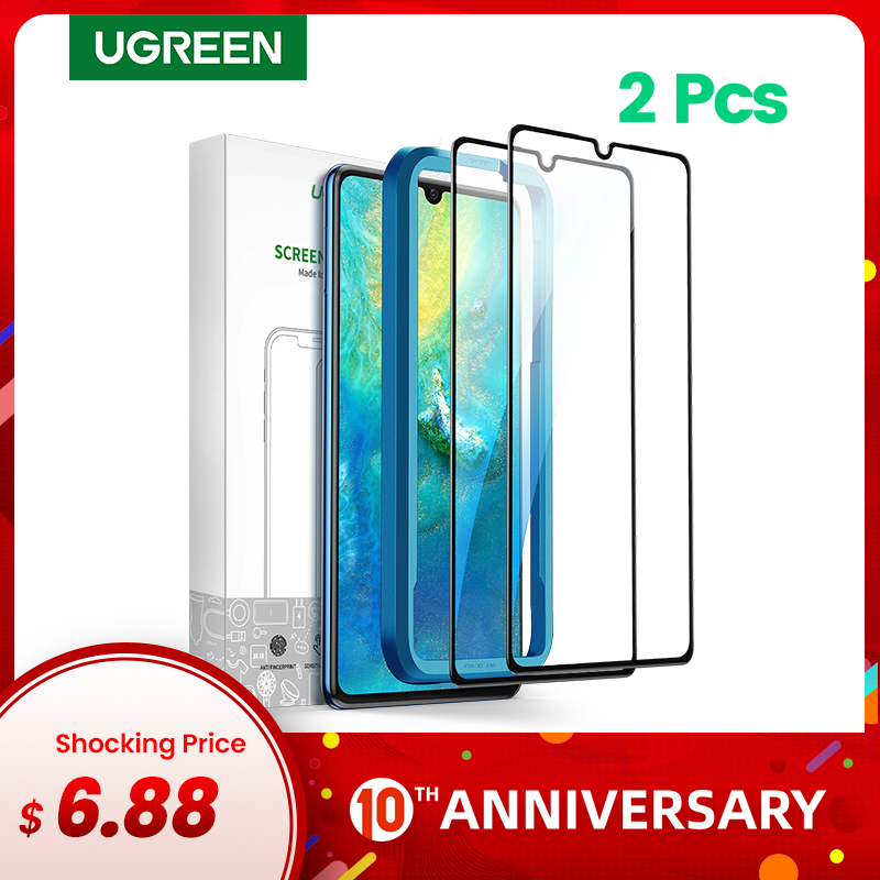 Ugreen Protective Glass 3D Full Coverage Screen Protector Film For Huawei P30 P20 Pro Mate 30 20 Mate 20 X Nova 4 Honor V 20