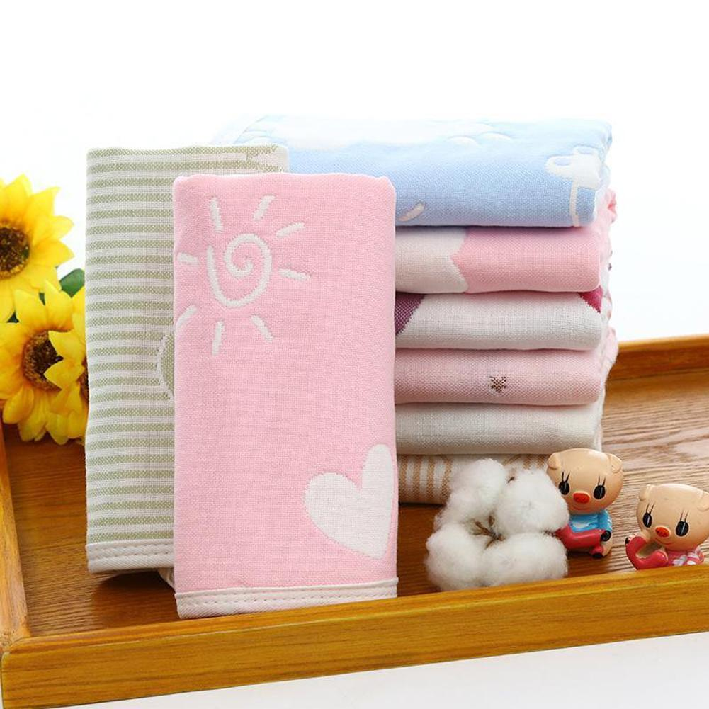 Single Small Square Soft Cute Baby Towel Handkerchief For Infant Kids Children Feeding Bathing Towel Face Washing Towel