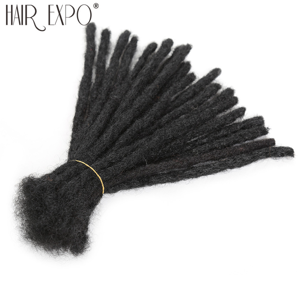 Handmade Dreadlocks Hair Extensions Black Reggae Synthetic Crochet Braiding Hair For Afro Women And Men Hair Expo City