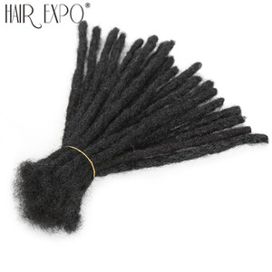 Handmade Dreadlocks Hair Extensions Black Reggae Synthetic Crochet Braiding Hair For Afro Women And Men Hair Expo City(China)
