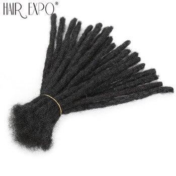 Волосы для наращивания дреды ручной работы, черные синтетические волосы для наращивания, вязаные крючком волосы для женщин и мужчин