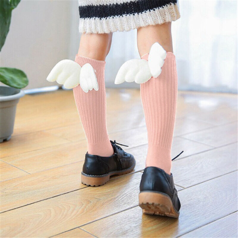0-4Years Baby Wings Socks Kids Soft Cotton Socks Toddler Knee High Socks Autumn Winter New Arrivals