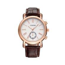 Hot Sales New Business Male Clock Retro Design Leather Band Analog Alloy Quartz Wrist Watch Digital dial luxury Men's Watches