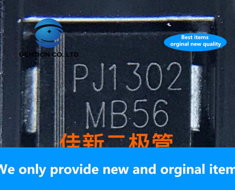30PCS 100% New Original MB56 Is The Same As MBRS560 Imported [Qiang Mao] 5A60V Low Voltage Drop Schottky Diode DO214AB