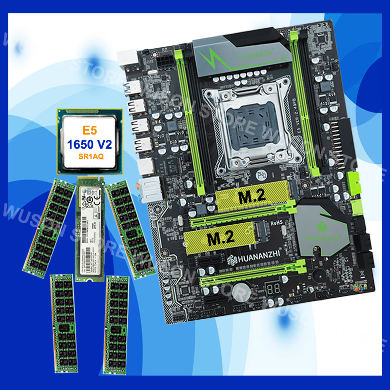 Brand HUANANZHI X79 motherboard with 256G NVME SSD discount motherboard bundle with CPU <font><b>Xeon</b></font> <font><b>E5</b></font> <font><b>1650</b></font> <font><b>V2</b></font> RAM 32G(4*8G) DDR3 RECC image